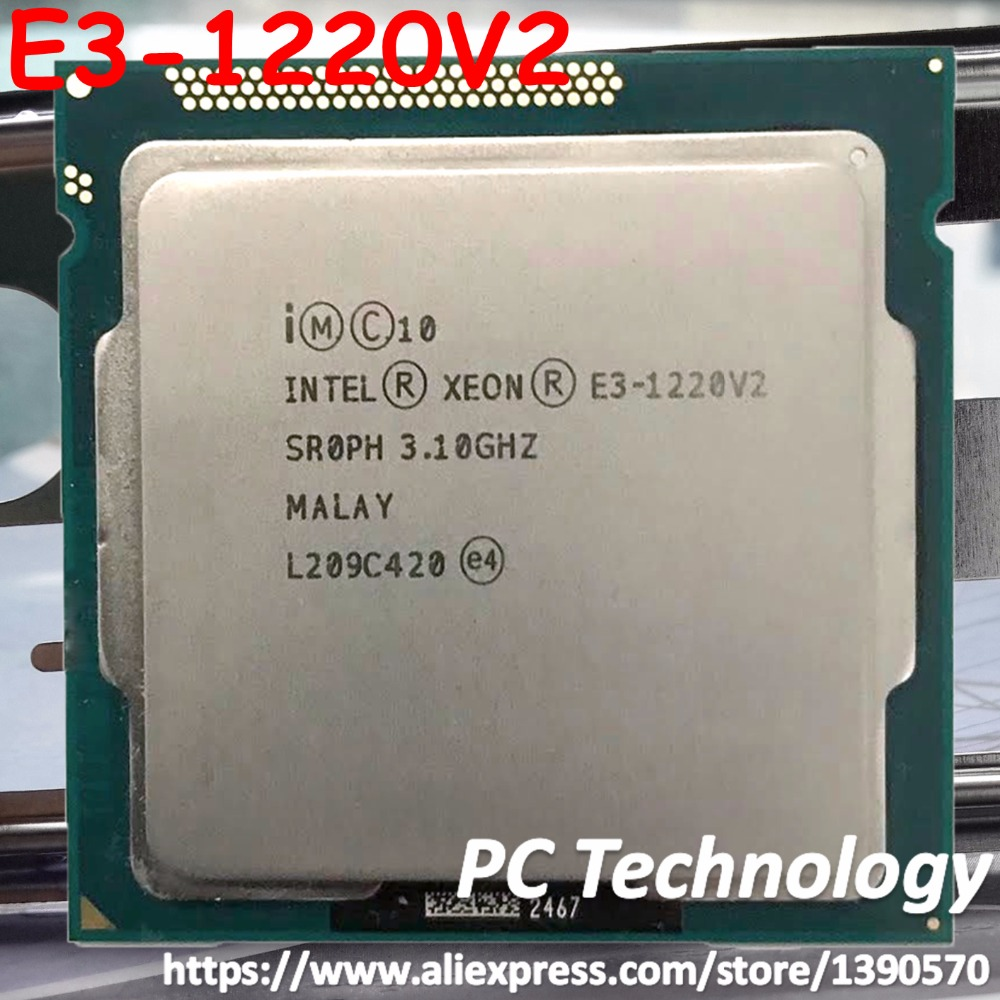 Original INTEL XEON E3 1220V2 E3 1220V2 CPU SROPH Quad core 8M Cache 3 10GHz E3