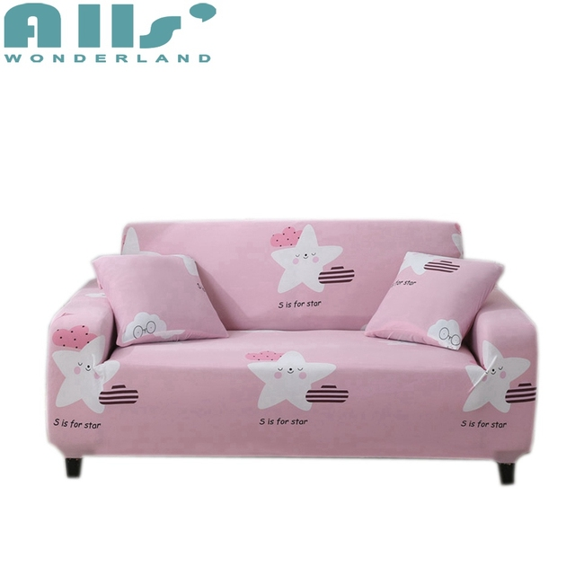 Pink Sofa Cover Reversible Couch Slipcover Furniture Protector For Living Room Modern Decoration Korean Style Elastic