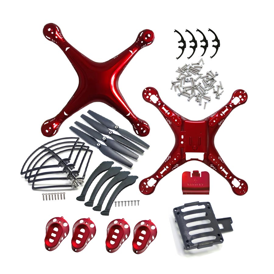 4 Colors SYMA X8/X8C/X8W/X8G/X8HC/X8HW/X8HG Plastic Parts Main Body Shell Cover And Gear Propeller Protective Frame Landing Gear propeller protective guard landing skid for x8c x8w x8g x8hg white