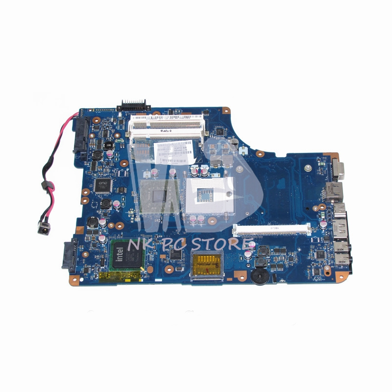 K000080430 KSWAA LA-4981P Main Board For Toshiba Satellite L500 L550 Laptop Motherboard GM45 DDR2 With graphics slot Free cpu v000225070 main board for toshiba satellite c650 c655 laptop motherboard 1310a2355303 gm45 ddr3 free cpu