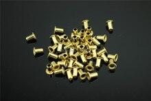 200PCS M3*3/M3*4/M3*5/M3*6 Rivet Hollow Copper DIY For 0.5mm~5mm Board Free Shipping