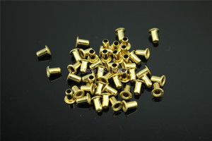 Image 1 - 200PCS M3*3/M3*4/M3*5/M3*6 Rivet Hollow Copper DIY For 0.5mm~5mm Board Free Shipping