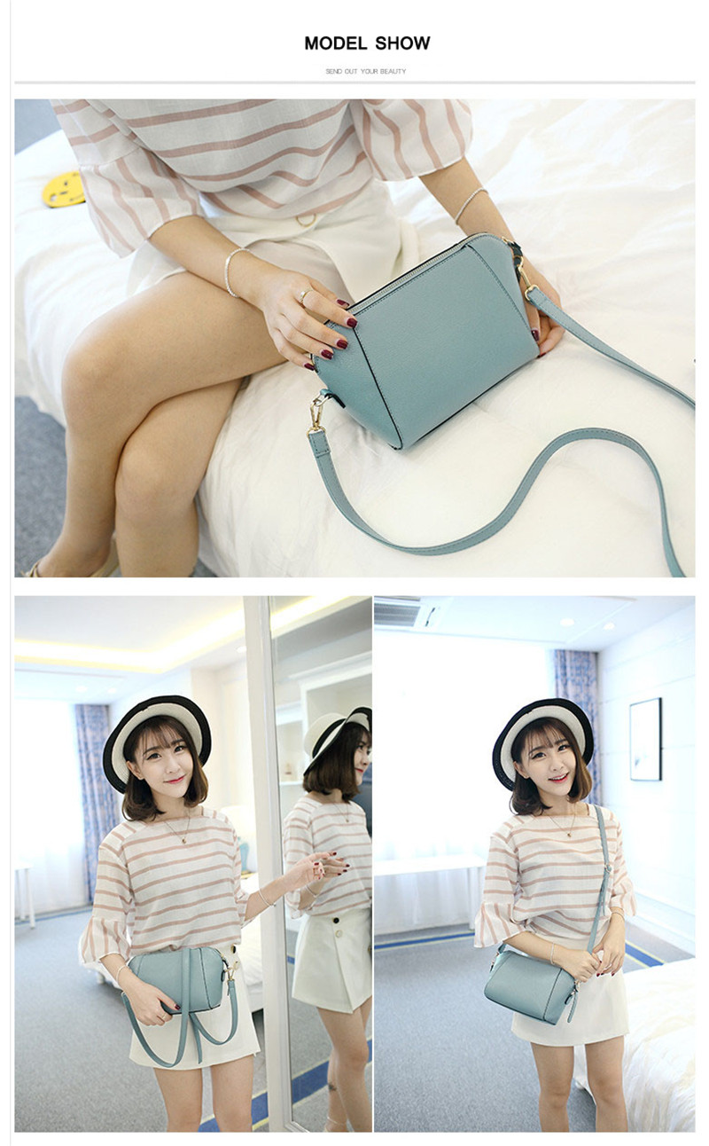 Trendy Japanese and Korean simple shell bag Fashion matches everything female bag small bag single shoulder Messenger bag 36