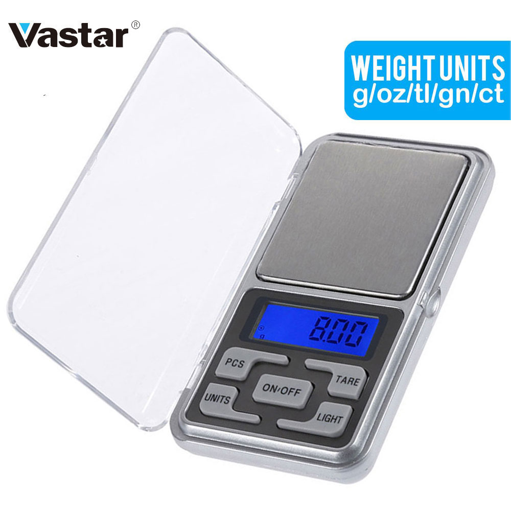 Electronic Digital Pocket Scale 0.01g Precision Mini Jewelry Weighing Scale Backlight Scales 0.1g For Kitchen 100/200/300/500g