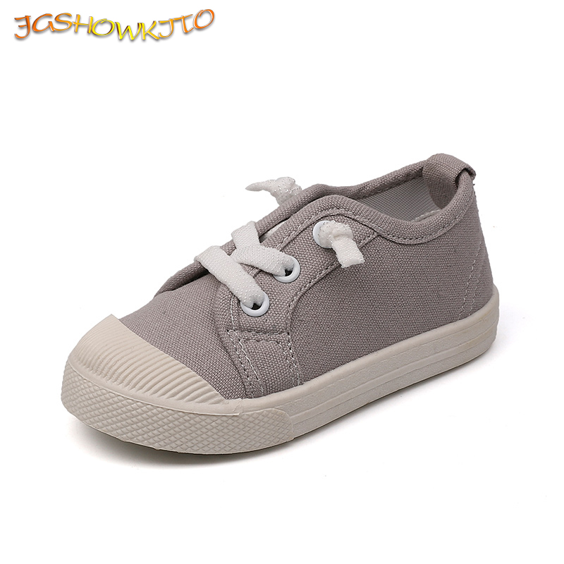 JGSHOWKITO Classic Children's Canvas Shoes Kids Casual Sneakers Boys Sports Running Shoes Girls Soft Flat Shoes Fashion Hot Sale