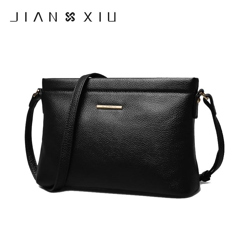купить JIANXIU Crossbody Bags for Women Genuine Leather Luxury Handbags Women Bags Designer Shoulder Messenger Clutch Bag Handbag W629 по цене 2847.1 рублей