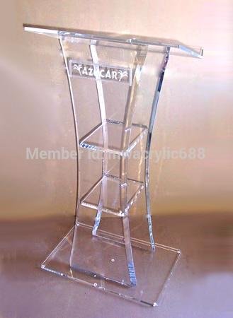 Pulpit Furniture Free Shiping High Quality Cheap Acrylic Lectern Acrylic Podium Plexiglass