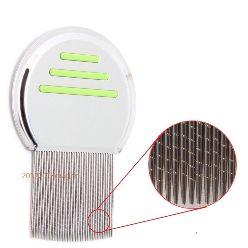 HIGH QUALITY Nit Free Terminator Lice Comb Get Down To Nitty Gritty With Grooved Teeth Brush Stainless Louse Brush