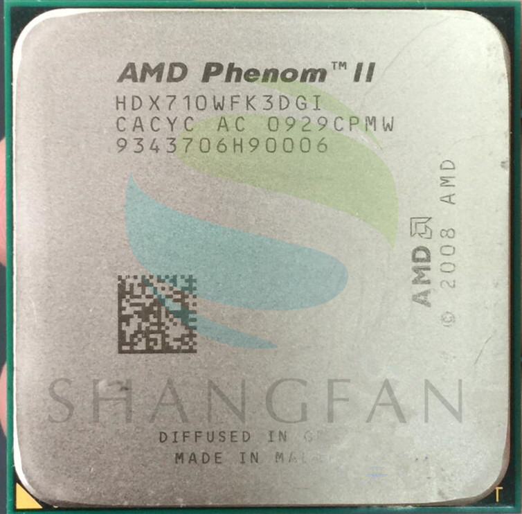 AMD Phenom X3 710 2.6 GHz Triple-Core CPU Processeur HDX710WFK3DGI 95 W Socket AM3 938pin