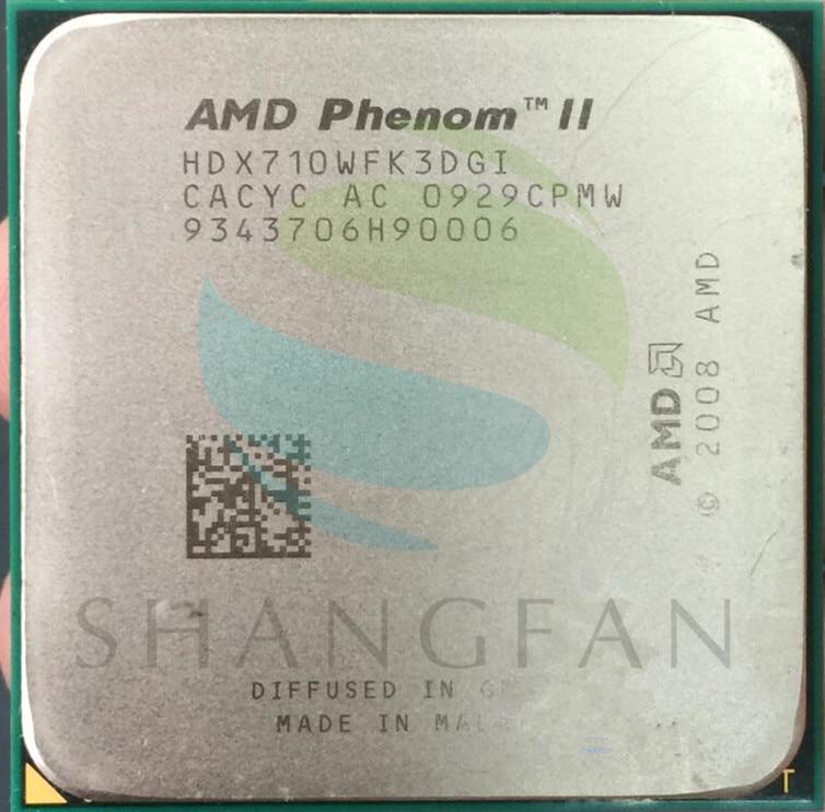AMD Phenom X3 710 de 2,6 GHz Triple-Core CPU procesador HDX710WFK3DGI 95 W hembra AM3 938pin
