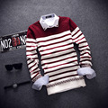 2017 New Arrival Pullover Men Round Neck Casual Brand Clothing Skinny Style Men Sweater Cotton Slim Fit Pull Homme Sweater Men
