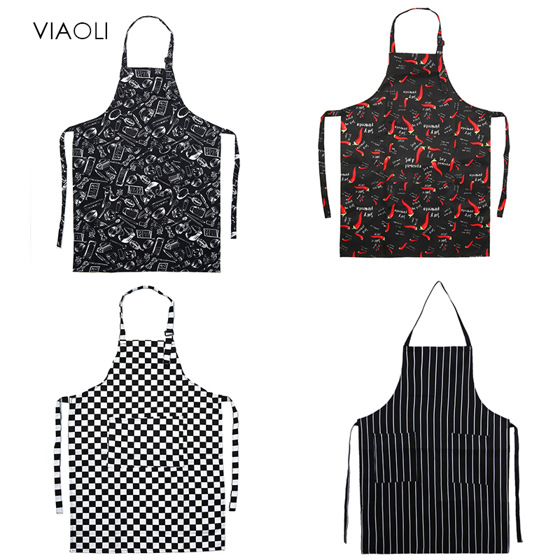 New Adjustable Chef Apron Female Male Cooking Apron Kitchen Apron Restaurant Baking Cooking Dress 8 Colors Wholesale