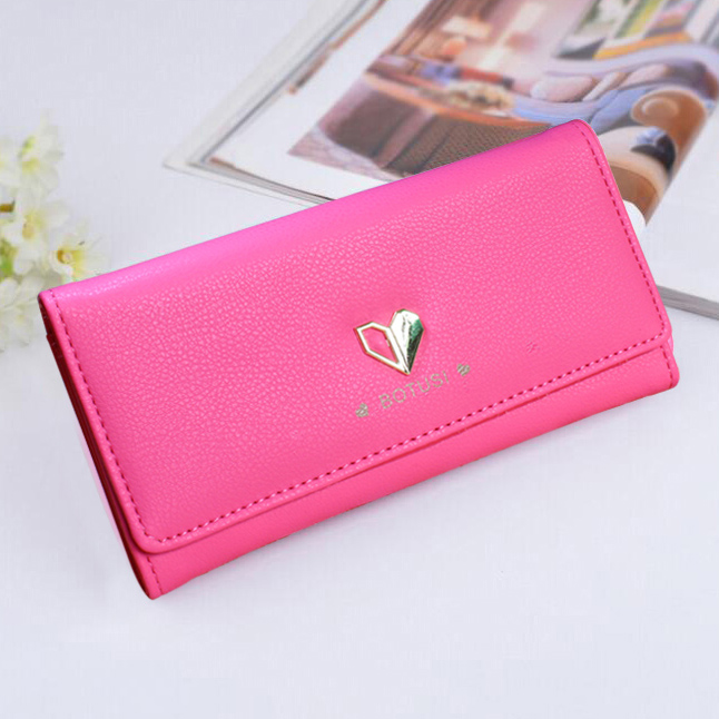 Lady Wallets ID Cards Holder PU Leather Brand Heart Women Purses Handbag Hasp Long Moneybags Coin Purse Girls Clutch Wallet Bags wallets blue color lady purses cartoon rabbit coin purse pocket long women moneybags wallet cards holder burse bags