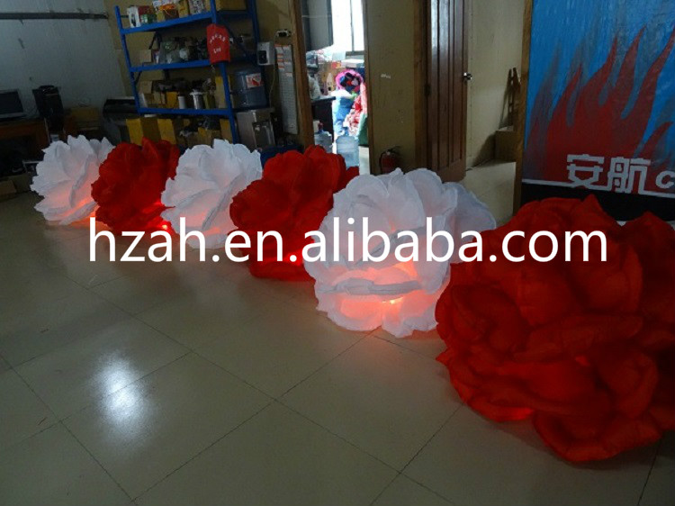 LED Lighting Inflatable Rose Flowers for Wedding Decoration