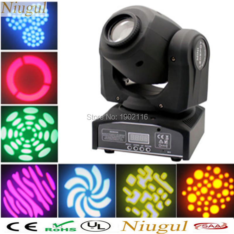 Niugul Best quality 30W LED DJ disco Spot Light /30W LED Spot Moving Head Light/DMX512 stage light effect/30W LED patterns lamp 10w disco dj lighting 10w led spot gobo moving head dmx effect stage light holiday lights