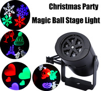 LED Stage Light Laser Projector Lamps Heart Snow Spider Bat Christmas Party Landscape Light Garden Lamp