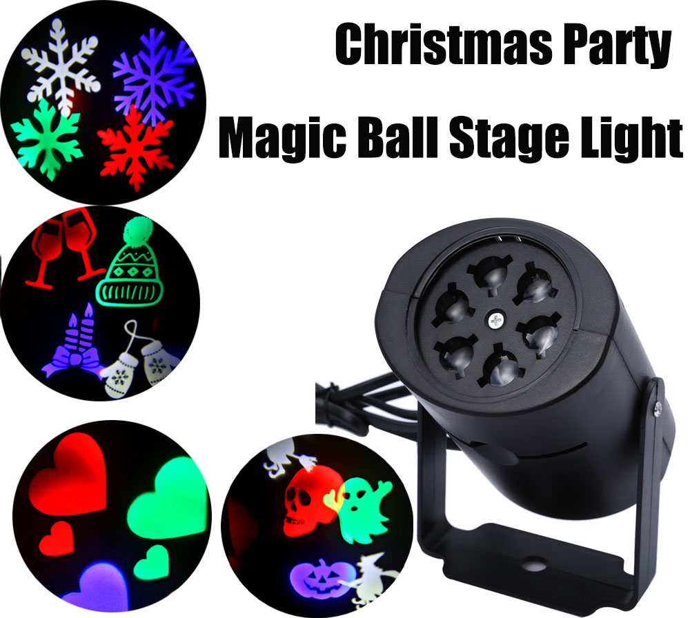 LED Stage Light Laser Projector Lamps Heart Snow Spider Bat Christmas Party Landscape Light Garden Lamp Outdoor Lighting rg mini 3 lens 24 patterns led laser projector stage lighting effect 3w blue for dj disco party club laser