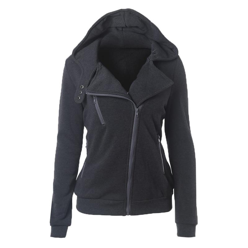 2018 Casual Winter Women Basic Jackets Cardigan Cotton Hoodies Female Coat Black Outerwear Hoodies Sweatshirts Plus Size 3XL 50