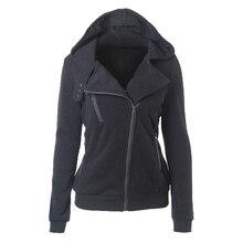 2018 Casual Winter Women Basic Jackets Cardigan Cotton Hoodies Female Coat Black