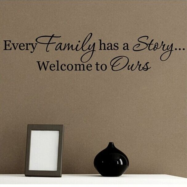Wall Decals Quotes Every Family Has A Story Vinyl Wall Quotes