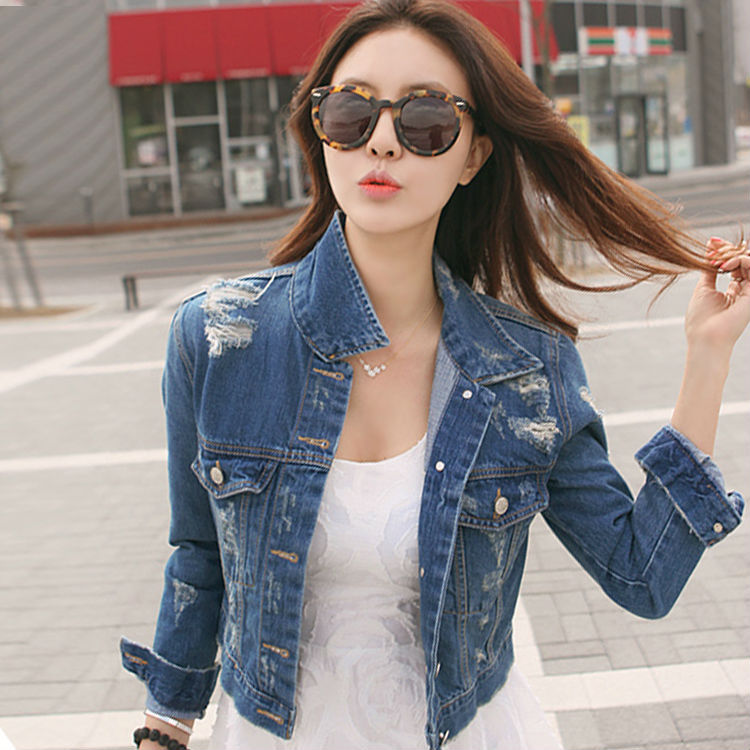 Bestitem New Fashion Jacket Woman Denim Jacket Women Ripped Jean ...
