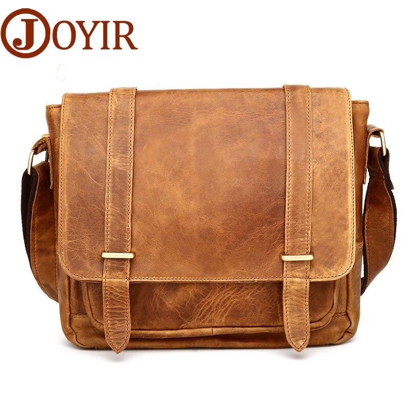Luxury Designer Vintage Men Messenger Bags Genuine Leather Bag Men Leather Crossbody Bag Belt Single Shoulder Bag For Male
