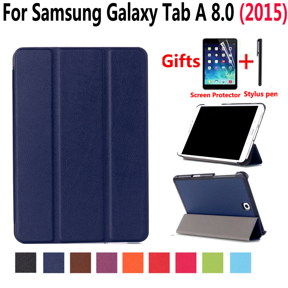 Smart Case for Samsung Galaxy Tab A 8 8.0 2015 T350 T355 P350 SM-T350 SM-T355 Cover Stand Pu Leather Case for Samsung Tab A 8.0