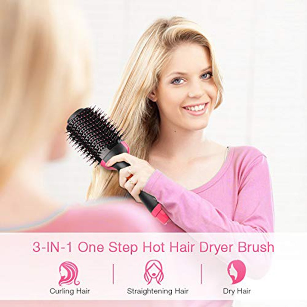 New 3 In 1 Multifunctional Hair Dryer Volumizer Rotating Hot Hair Brush Curler Roller Rotate Styler Comb Styling Curling Iron