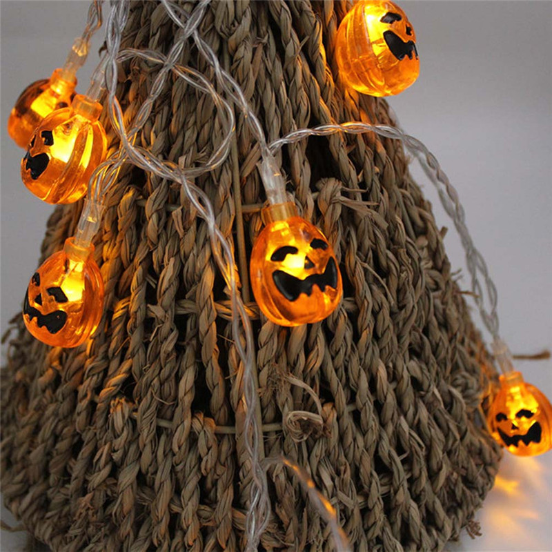 New 2018 Halloween Bat Pumpkin 5M 28 LED String Lights Bulb Night Light Outdoor Garden Phyto Holiday Decor