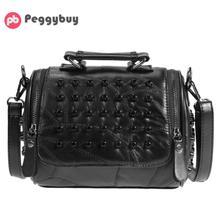 Luxury font b Women b font Genuine font b Leather b font Bag Sheepskin Messenger Bags