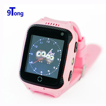 9Tong Children GPS Watch Phone with Camera Flashlight 1.44 Inch OLED Touch Screen Locator Device Kids Safe Anti-Lost Monitor b0