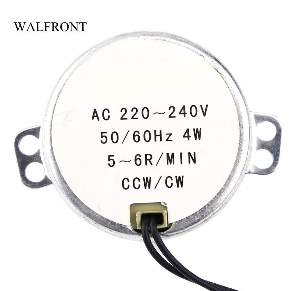 5//6RPM AC 220-240V 50//60Hz CW//CCW Synchronmotor Getriebemotor für Mikrowelle