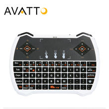 [AVATTO] Russian/English Rechargeble Backlit i8V Mini Keyboard 2.4GHz Wireless Touchpad for Smart TV,Android Box,Tablet,Laptop