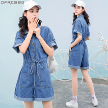 abb6b85729ef Buy denim jumpsuit elastic waist and get free shipping on AliExpress.com