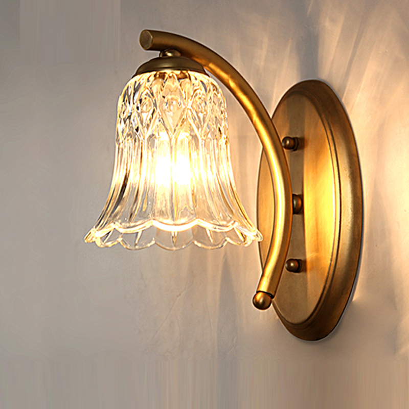 American Full Mirror Bathroom Bedroom Wall Lamp Led Bedside Headlight Single Lens Room Corridor Wall Light Vanity Mirror Lamps ...