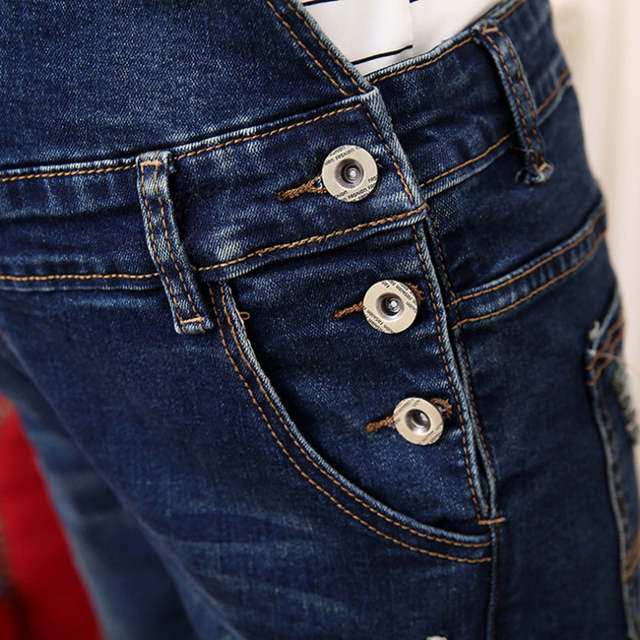 f8cadc0728fbc Fashion cowboy trousers pants can be adjusted large yards grinding mothers  jeans cowboy dresses pregnant pregnant women clothing