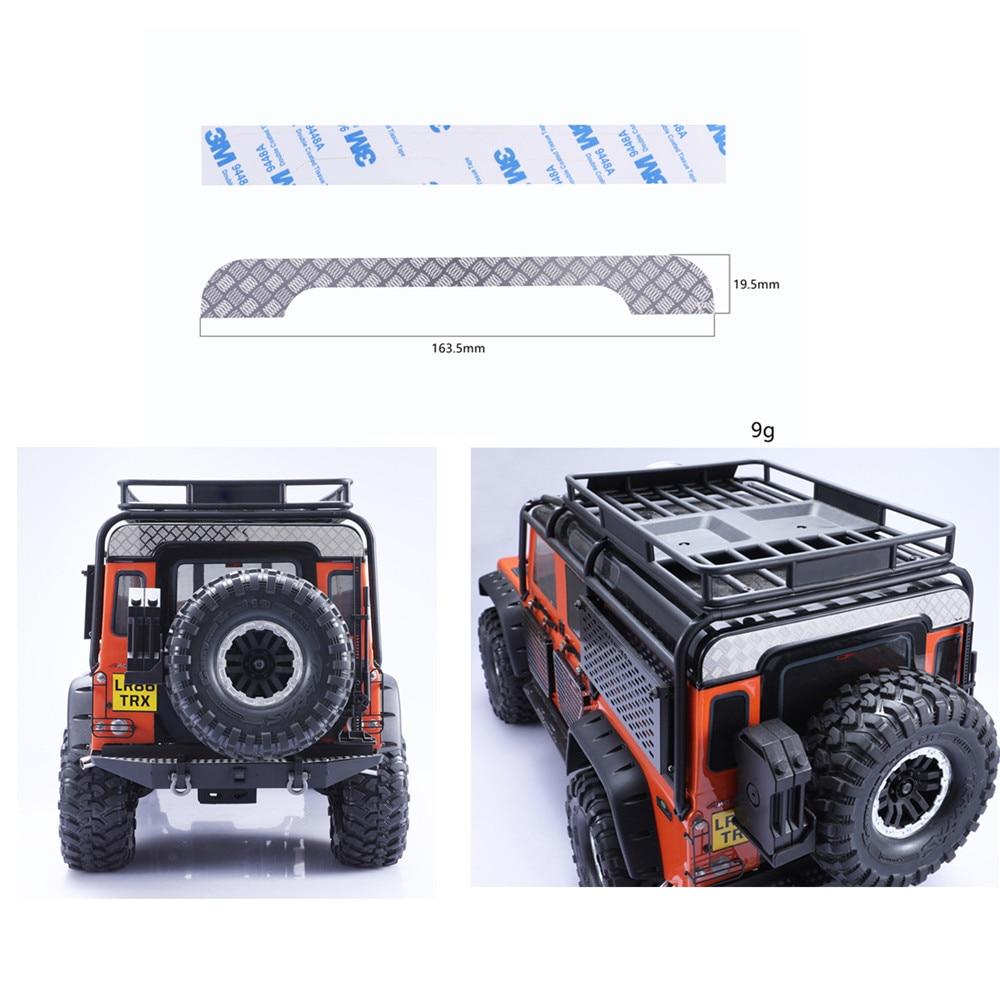 De Metal techo trasero Panel para Traxxas TRX4 TRX-4 Land Rover Defender D110 de acero inoxidable RC coche guardia ornamentales placa