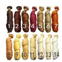15 100cm Curly Doll Wigs Brown Khaki Black High Temperature Heat Resistant Doll Hair 1 3