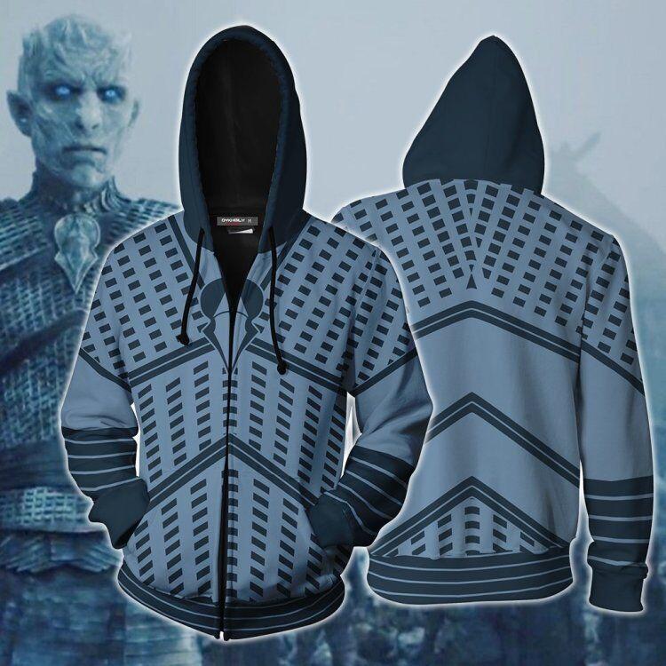 Game of Thrones The white walkers Ghost Outfit Sweatshirts Men Women Hoodies Zipper Coat Jacket Pullover Uniform Cosplay Costume