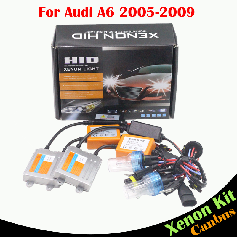 ФОТО Cawanerl Car Light HID Xenon Kit AC 55W H7 Canbus Ballast Bulb 3000K-8000K Auto Headlight Low Beam For Audi A6 2005-2009