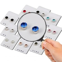 1 Pair Weight Loss Earrings Healthy Stimulating Acupoints Stud Magnetic Therapy Health Care Slimming Tool