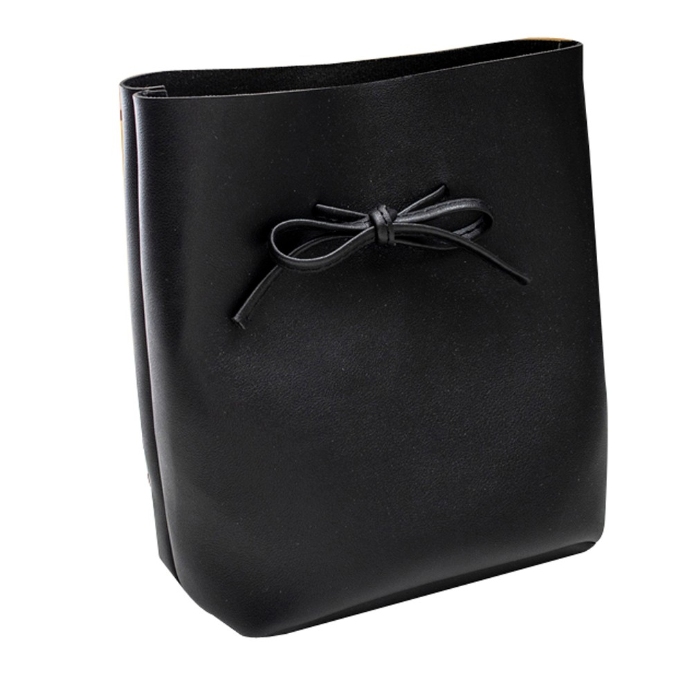 Fashion Women's Shoulder Bow Bucket Bag Coin Purse Mobile Phone Bags Phone Soft Lether Bag bolsos mujer