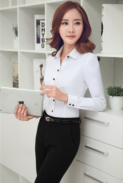 Plus Size 3XL Estilo Uniforme Pantsuits Formais Tops E Calças Desgaste Do Trabalho de Escritório Ternos Com Conjuntos de Blusas Das Senhoras Calças Femininas