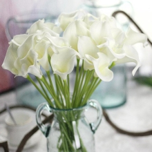 Artificial Flower Wedding Decoration DIY Wreath Calla PU Fake Lily Party Home Deco