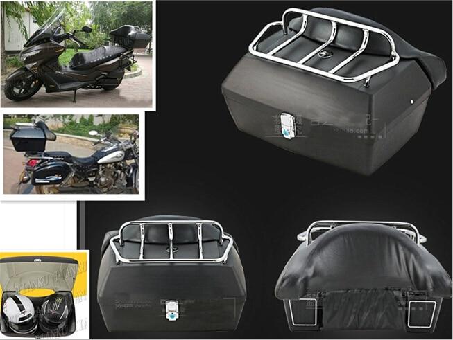 In Staat Mat Zwart Kofferbak Staart Doos Bagage Met Top Rack Rugleuning Voor Kawasaki Vulcan Classic Vn 400 Vn500 Vn800 Vn 900 1200 1500 1600