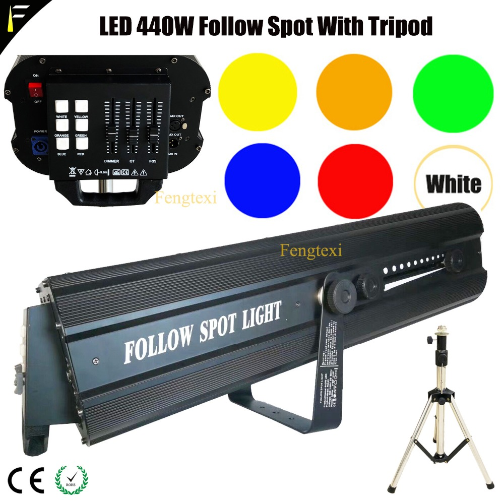 LED 440 Master DMX 512 Follow Spot With Dual Focus LED Followspot Include Flight Case High Brightness Strong Spot Light FollowLED 440 Master DMX 512 Follow Spot With Dual Focus LED Followspot Include Flight Case High Brightness Strong Spot Light Follow