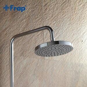 Image 2 - Frap עגול 20*20cm נירוסטה + ABS רחצה ראשי מקלחת 8 אינץ גשמים מקלחת ראש גשם מקלחת כרום גימור F11 2