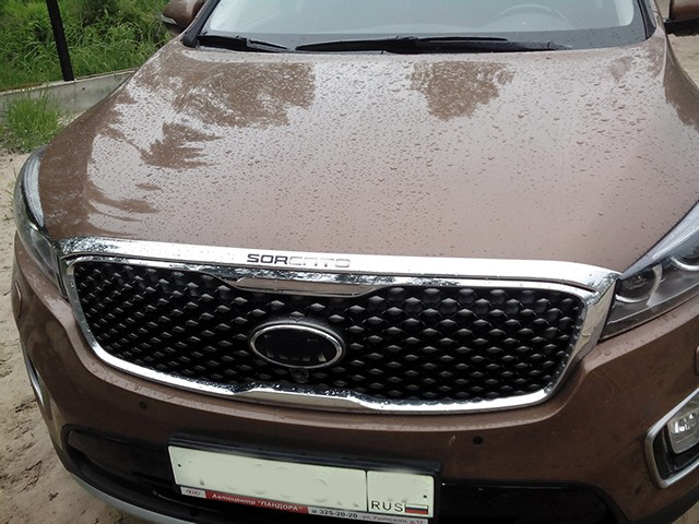 KOUVI ABS 크롬 엔진 뚜껑 커버 트림 후드 가드 기아 쏘렌토 2015 2016 액세서리 자동차 스타일링 1 개 / 대