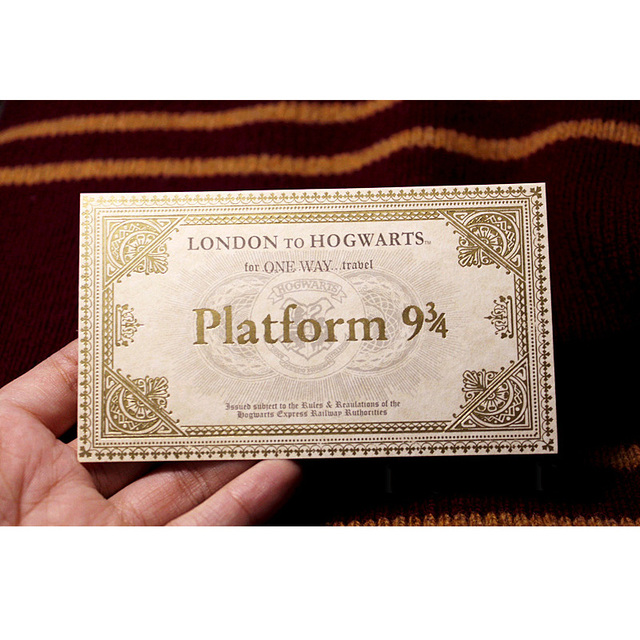Gringotts Bank Coins Wizarding World Cosplay 1Pcs Hogwarts Express Ticket as Gift