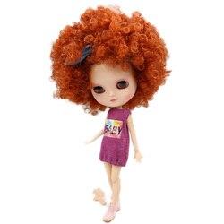 ICY naga lalka serii No.BL2231/2237 mandarynki dzikie-curl włosy taki sam, jak Blyth z makijażu, wspólne body, niższa cena